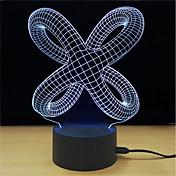 1 juego Luz de noche LED Toca 7-Color Alimentado por USB Alivio del estrés y la ansiedad Luz decorativa Con puerto USB Color variable