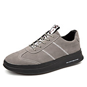 男性用 靴 PUレザー 春 秋 コンフォートシューズ ブーツ のために アウトドア ブラック グレー バーガンディー