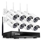 zosi® 8ch sistema de cctv inalámbrico 1080 p hd nvr 8 unids 2.0mp ir al aire libre a prueba de agua p2p wifi cámara de seguridad sistema de