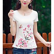 Mujer Festivos Camiseta Floral