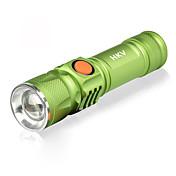 HKV Linternas LED / Lámpara LED 1000lm 3 Modo de Iluminación Portátil / SOS Camping / Senderismo / Cuevas / De Uso Diario / Ciclismo