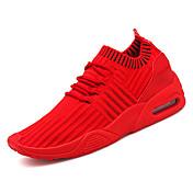 Hombre Tejido Otoño Confort Zapatillas de Atletismo Running Negro / Gris / Rojo