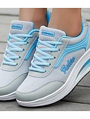Feminino Sapatos Malha Respirável Primavera Outono Conforto Tênis Para Casual Rosa claro Azul Claro