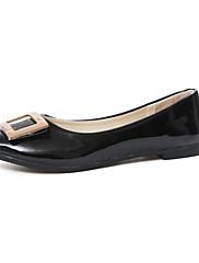 Feminino Sapatos Pele Real Primavera Verão Mocassim Rasos Para Casual Branco Preto Bege Rosa claro