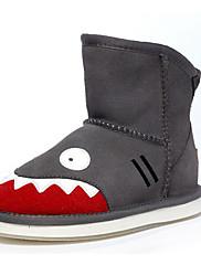 Para Meninos sapatos Pêlo Camurça Inverno Botas de Neve Botas Para Casual Cinzento Marron Vermelho