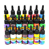cheap Tattoo Ink-21 × 15 ml Bahama Blue Bamboo Banana Cream Bright Orange Bright Red Carol's Pink Cherry Bomb Dark Chocolate Dark Green Golden Yellow