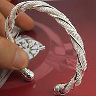 billige Smykker til bryllup & fest-Dame Sølv - Manchet Sølv Armbånd Til Bryllup Fest Speciel Lejlighed