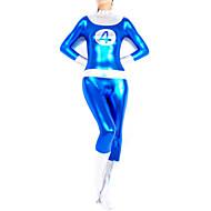 Ternos Zentai Brilhantes Ninja Fantasia Zentai Fantasias de Cosplay Estampado Retalhos Collant/Pijama Macacão Fantasia Zentai Macacão