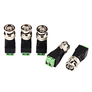 billige Sikkerhetsutstyr-Kobling for CCTV Security Camera BNC Plug Connector Adapter Video Transceiver 5Pcs til Sikkerhet Systemer 4.2*1.5*1.5cm 0.06kg
