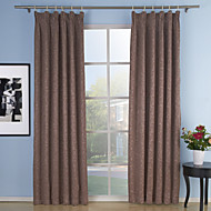 To paneler Window Treatment Neoklassisk , Ensfarget Stue Polyester Materiale gardiner gardiner Hjem Dekor For Vindu