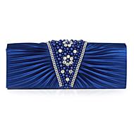 baratos Clutches & Bolsas de Noite-Mulheres Bolsas Cetim Bolsa de Festa Pérolas Sintéticas Fúcsia / Azul Real / Champanhe / Sacolas de casamento