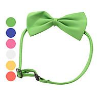 犬 カラー 調整可能 / 引き込み式 蝶結び ダークブルー イエロー レッド グリーン ピンク