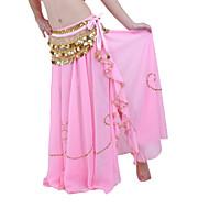 Danse du ventre Jupe Femme Utilisation Mousseline de soie Billes Taille basse Jupe / Spectacle