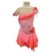Haljina za klizanje Žene Djevojčice Korcsolyázás Haljine Spandex Štras Aplikacije Til Seksi blagdanski kostimi Odjeća za klizanje Ručno