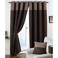 cheap Curtains Drapes-Rod Pocket Grommet Top Tab Top Double Pleat Two Panels Curtain Modern Solid Bedroom 100% Polyester Polyester Material Curtains Drapes