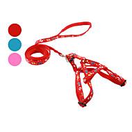 お買い得  犬用カラー/リード/ハーネス-犬 ハーネス リード スリップリード フットプリント 繊維 レッド ブルー ピンク