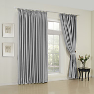 cheap Window Curtains-Rod Pocket Grommet Top Tab Top Double Pleat Two Panels Curtain Modern Solid Bedroom 65% Rayon/35%Polyester Rayon Material Curtains Drapes