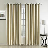 2 paneeli Window Hoito Moderni , Yhtenäinen Makuuhuone Polyesteri materiaali verhot Drapes Kodinsisustus For Ikkuna