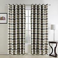 ett par tradisjonelle jacquard polyester pledd rom darkening gardin