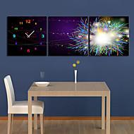 moderne scenisk veggur i canvas 3pcs k0056