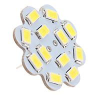 billige Bi-pin lamper med LED-1.5 W 6000 lm G4 Taklys 12 LED perler SMD 5630 Naturlig hvit 12 V / #