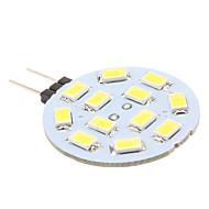 2W G4 LED-lamper med G-sokkel 12 SMD 5630 170 lm Naturlig hvit DC 12 V