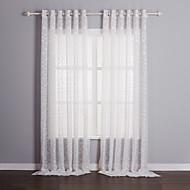 Twee panelen Window Behandeling Landelijk , Effen Woonkamer Polyester Materiaal Vitrages Shades Huisdecoratie For Venster