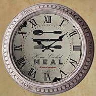 """13.5 """"h hora do jantar relógio de parede de metal"""