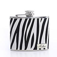 billige Personlige Drikke Glas-Personlig gave Zebra-stripe 5oz PU Leather Flask
