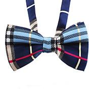 ネコ 犬 ネクタイ/ボウタイ 犬用ウェア 結婚式 ファッション 格子柄 ブラック ブルー コスチューム ペット用