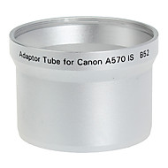 52mm Lens og Filter Adapter Tube til Canon A570 IS B52 Silver