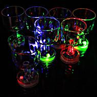 1pc cor piscando pequeno cálice com luz led flash cozinha suprimentos