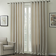 Two Panels Curtain Modern , Embossed Living Room Polyester Material Curtains Drapes Home Decoration
