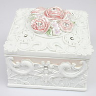 Beautiful Garden Style Square-formet Smykker Box