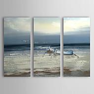baratos -Pintados à mão Paisagem Horizontal Tela de pintura Pintura a Óleo Decoração para casa 3 Painéis