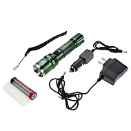 SmallSun 4 LED懐中電灯 ランタン&テントライト LED 350 lm 4.0 モード Cree XR-E Q5 焦点調整可 充電式 自己防衛 防水 のために キャンプ/ハイキング/ケイビング 日常使用 サイクリング 狩猟 釣り