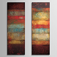 cheap Oil Paintings-Hand-Painted Abstract Vertical Panoramic, Classic Realism Oil Painting Home Decoration Two Panels