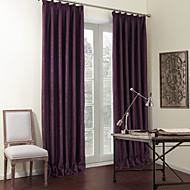 billige Mørkleggingsgardiner-to panelene solide lilla luksuriøse blendingsgardiner gardiner