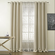 To paneler Window Treatment Moderne Polyester Materiale Blackout Gardiner Hjem Dekor For Vindu