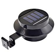 3-LED Solar Powered Gutter Door Fence Wall Light Outdoor Garden Lighting