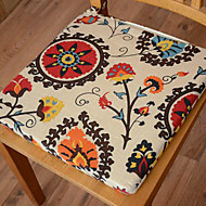 Modern Style 100% bomull Multi-color Floral Pattern Chair Pad
