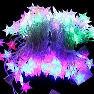20 led 4m防水ヨーロッパプラグイン屋外休日の装飾海の星の形rgbの光led文字列の光(220v)