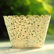 preiswerte Cupcake-Papierförmchen-Kreativ Kartonpapier Geschenke Halter mit Muster Blume Kuchenverpackung und Boxen