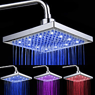 Chrome Finish rectangulare 3 culori LED-uri cap de duș