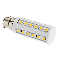 B22 LED-kornpærer T 36 leds SMD 5050 Varm hvit 3000