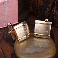 Personalized Gift Gold Squared Engraved Cufflinks