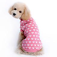 Cica Kutya Pulóverek Kutyaruházat Melegen tartani Szívek Rózsaszín Háziállatok számára