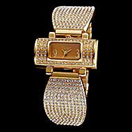 billige Quartz-Dame Armbåndsur / Diamantbelagt ur Imiteret Diamant Rustfrit stål Bånd Glitrende / Mode / Elegant Sølv / Guld / To år / Maxell SR626SW