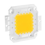 DIY 80W 6350-6400lm 2400mA 3000-3500K luz branca quente Módulo LED integrado (30-36V)
