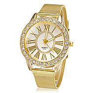 בגדי ריקוד נשים שעוני אופנה שעון יד שעוני שמלה קווארץ ריינסטון חיקוי יהלום סגסוגת להקה פרח מדבקות עם נצנצים זהב